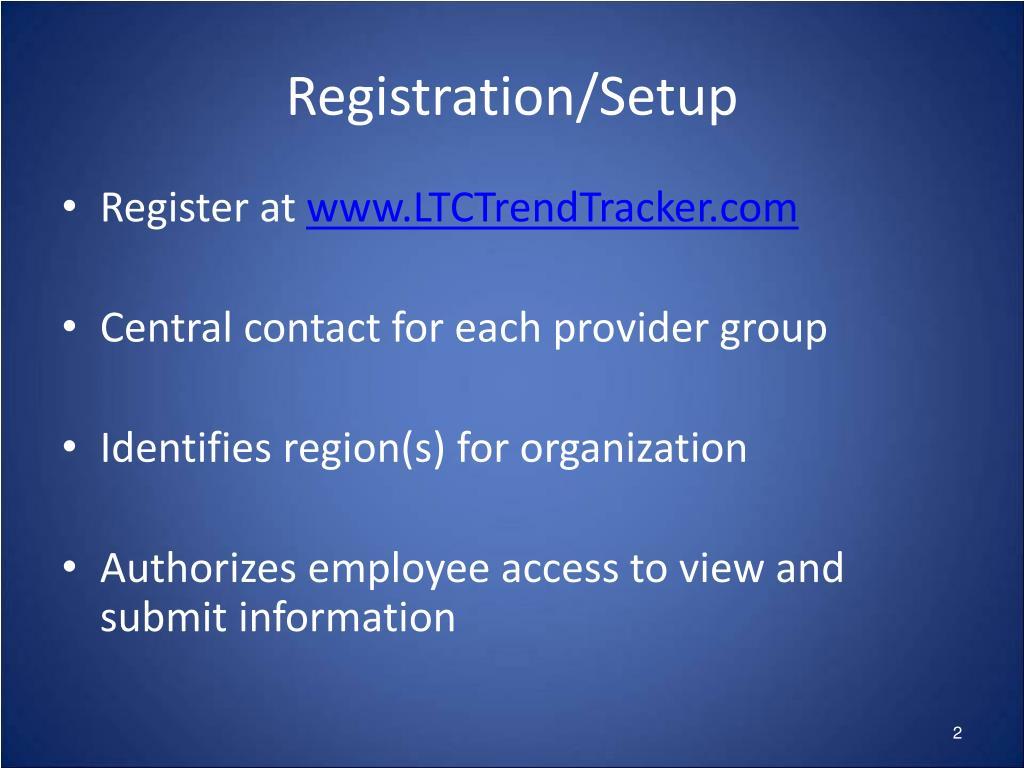 Registration/Setup