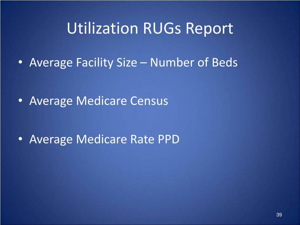 Utilization RUGs Report