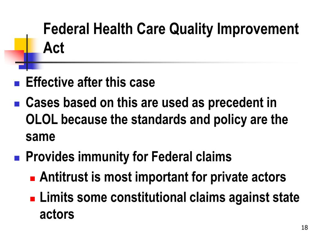 Federal Health Care Quality Improvement Act