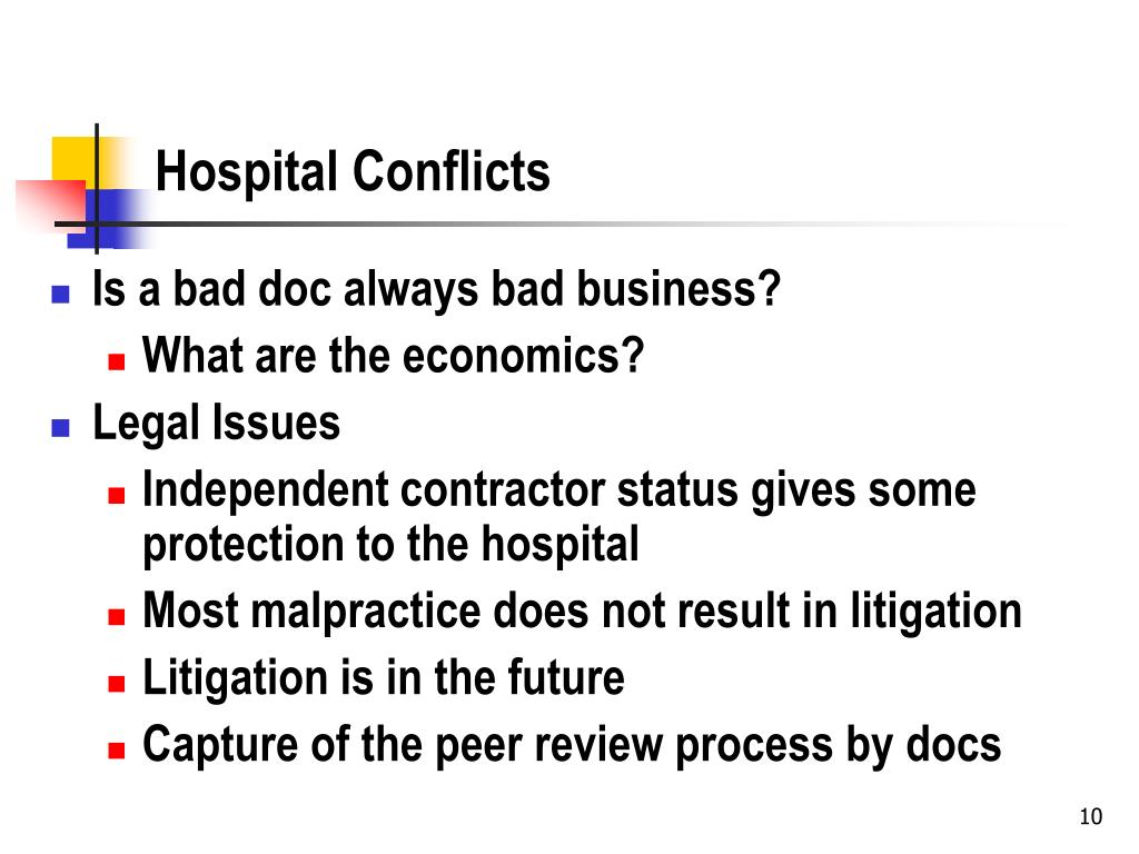 Hospital Conflicts