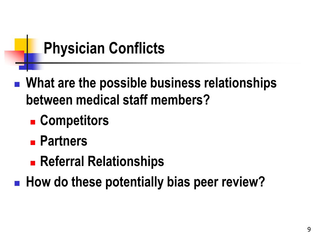 Physician Conflicts