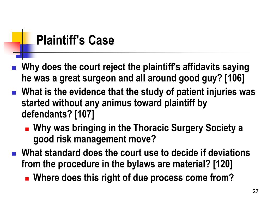 Plaintiff's Case