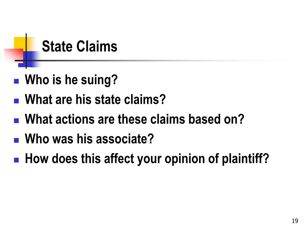 State Claims