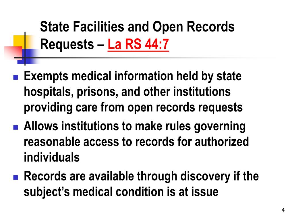 State Facilities and Open Records Requests –