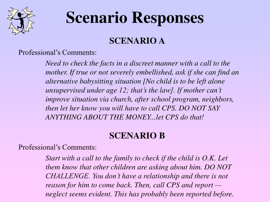 Scenario Responses