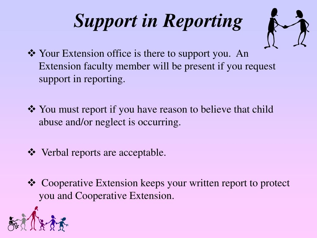 Support in Reporting