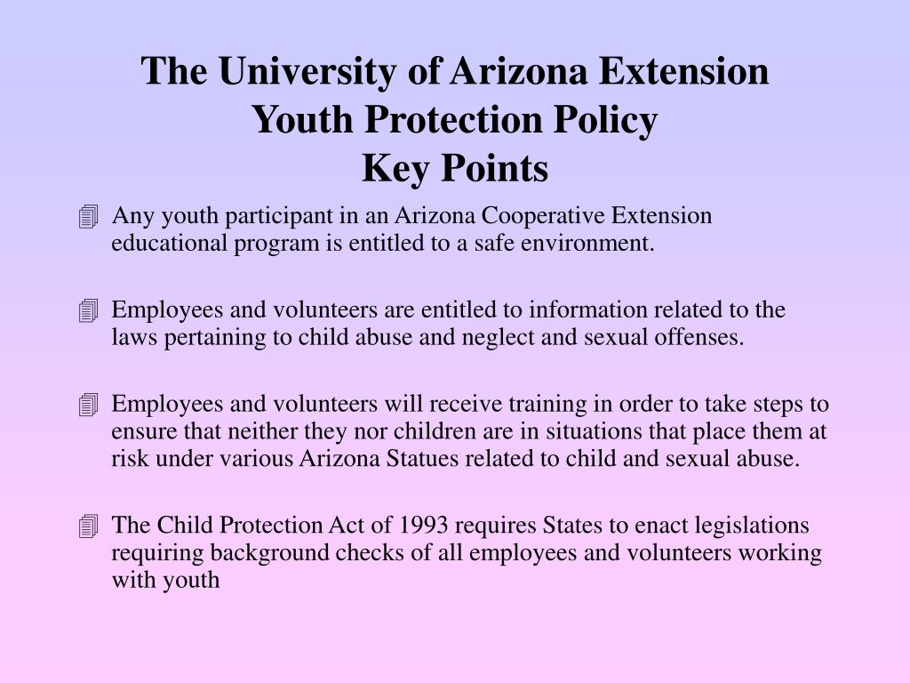 The University of Arizona Extension