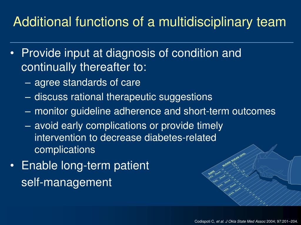 Additional functions of a multidisciplinary team