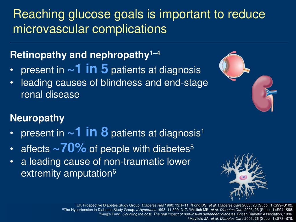 Reaching glucose goals is important to reduce