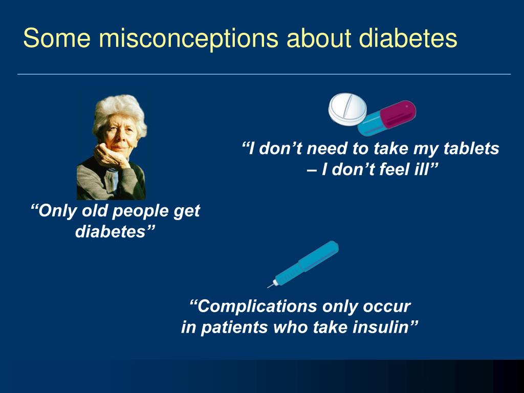 Some misconceptions about diabetes