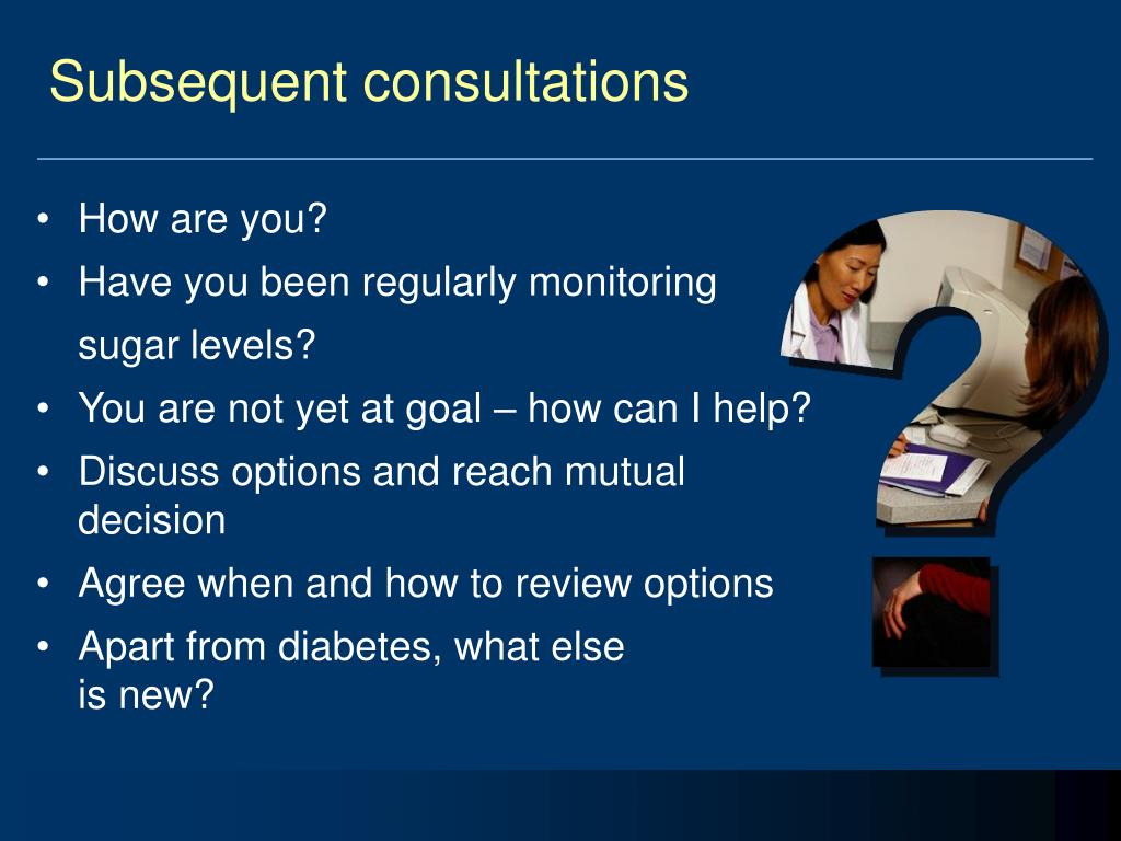 Subsequent consultations