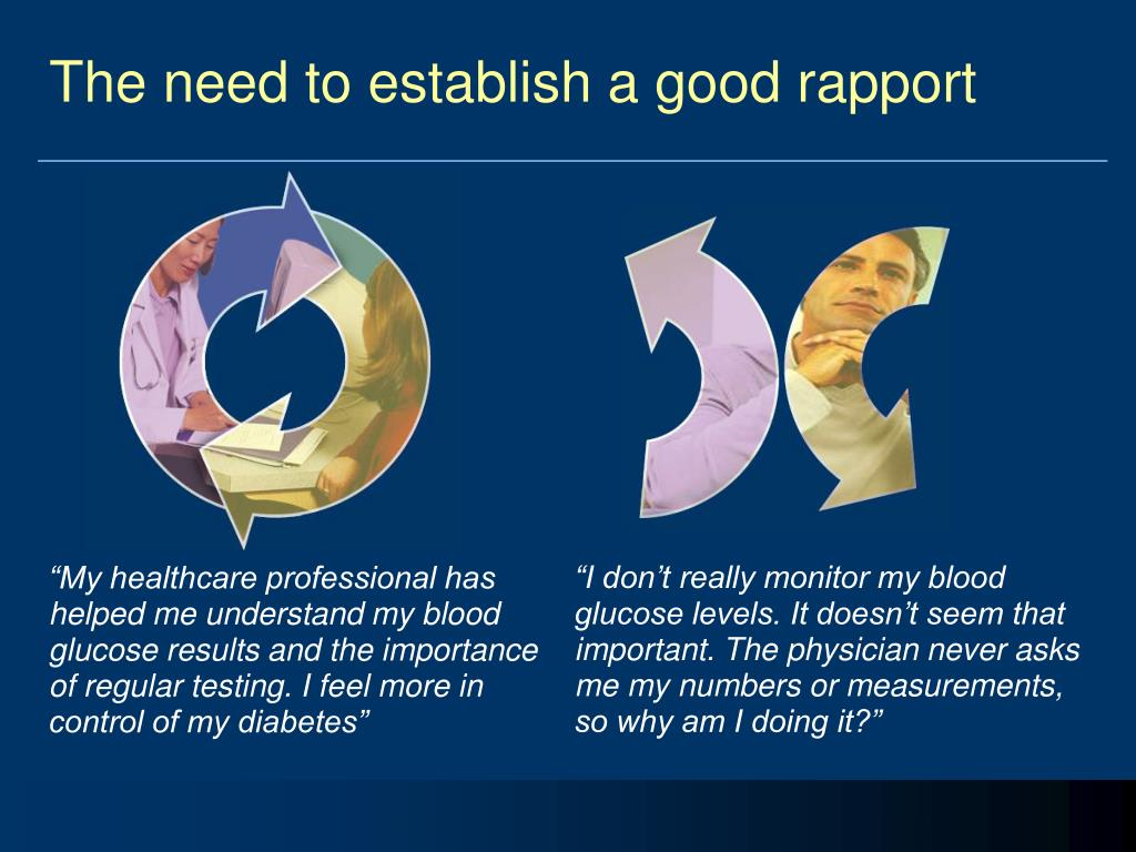 The need to establish a good rapport
