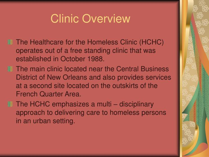 Clinic overview