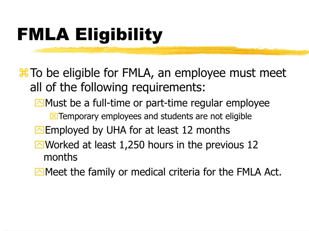 FMLA Eligibility
