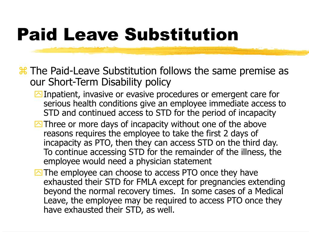 Paid Leave Substitution
