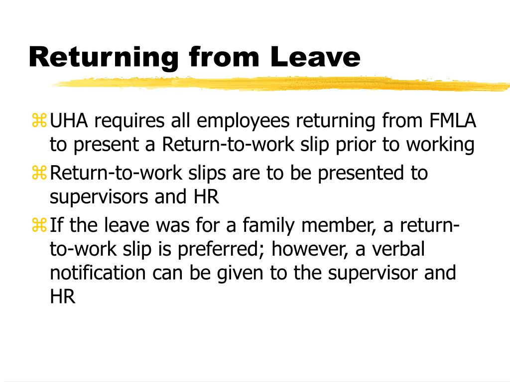 Returning from Leave