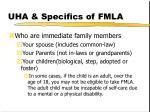 uha specifics of fmla8