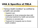 uha specifics of fmla9