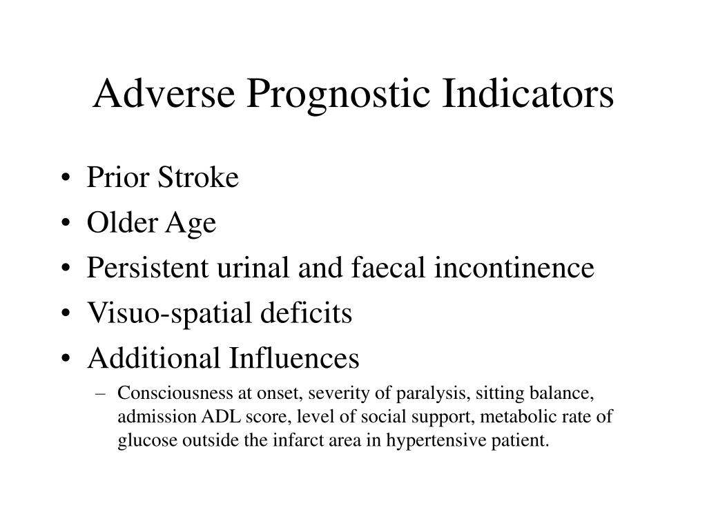 Adverse Prognostic Indicators