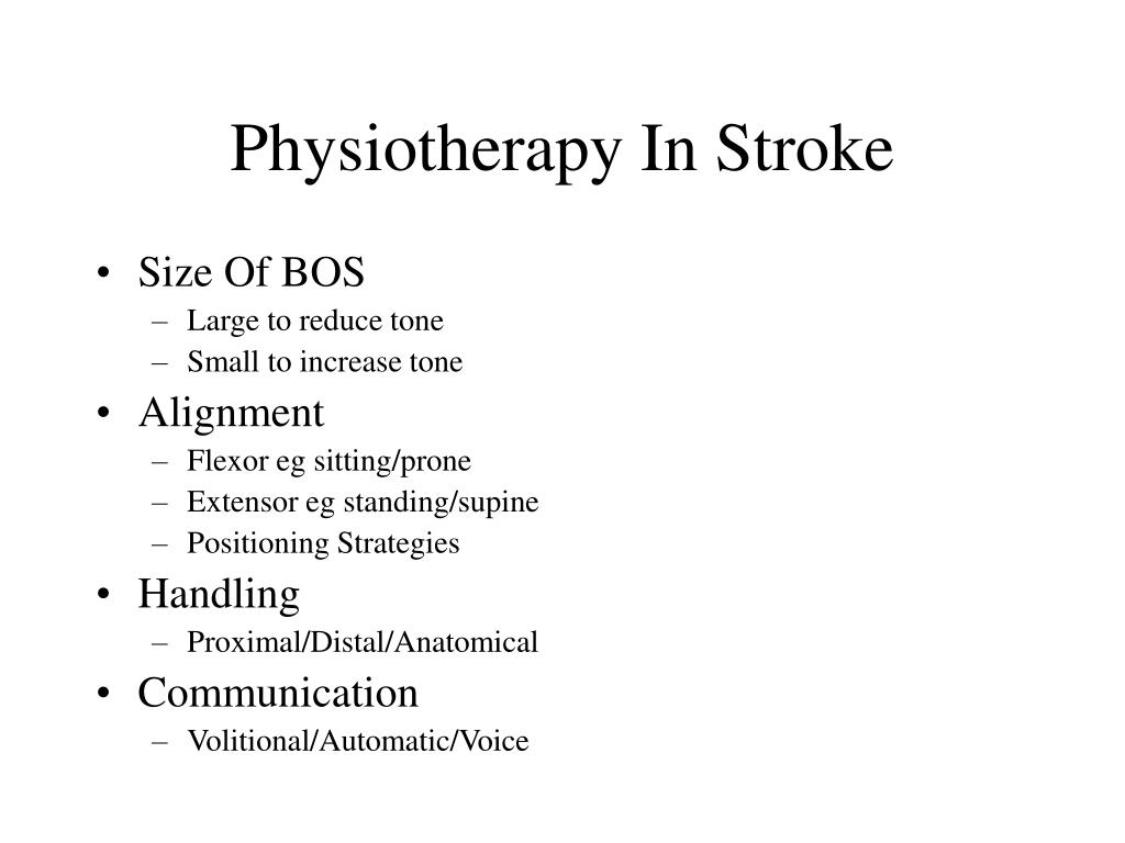 Physiotherapy In Stroke