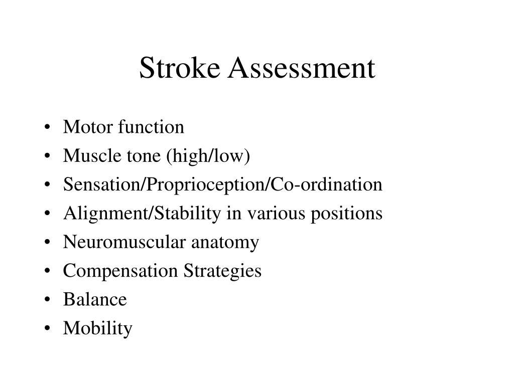 Stroke Assessment