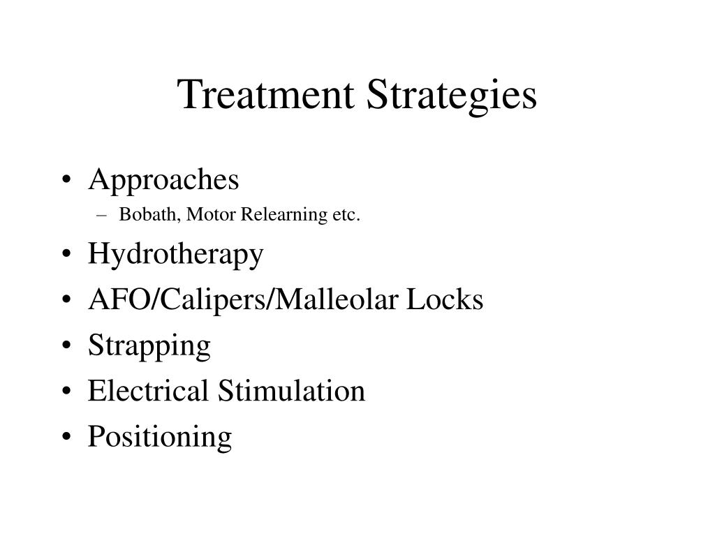 Treatment Strategies