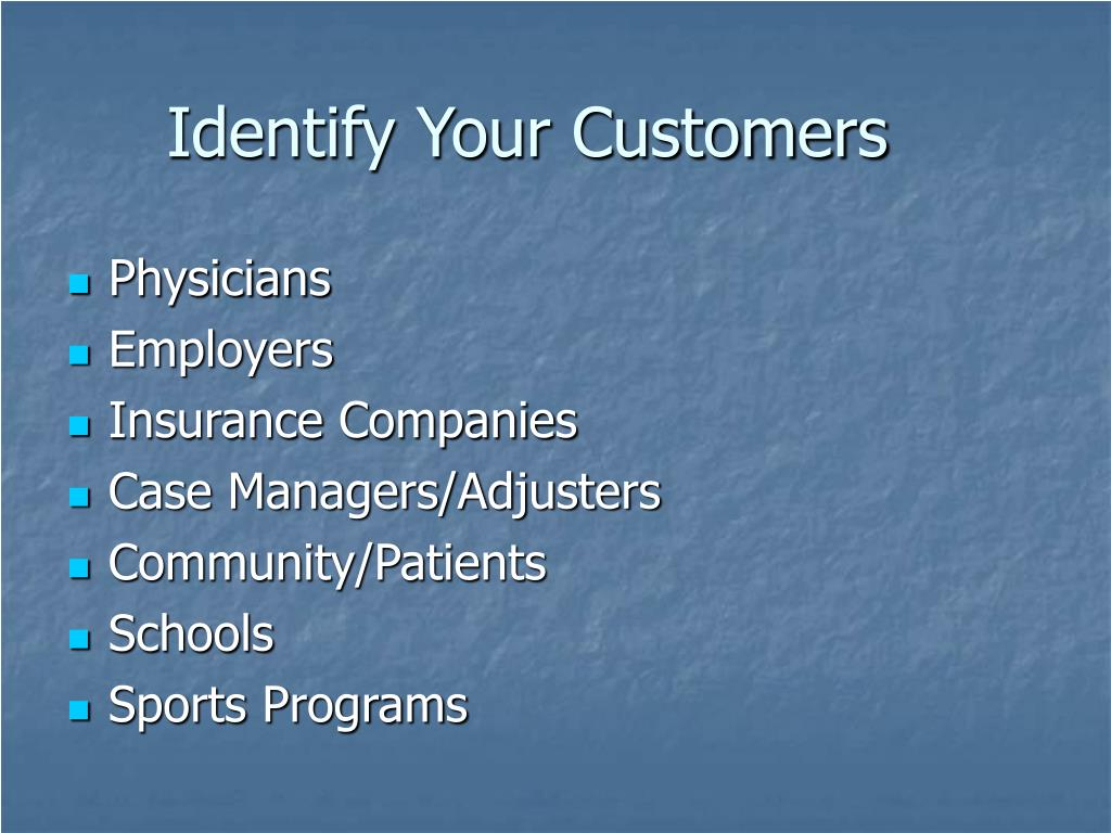 Identify Your Customers