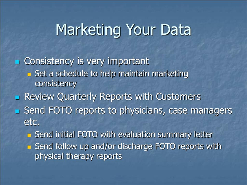 Marketing Your Data