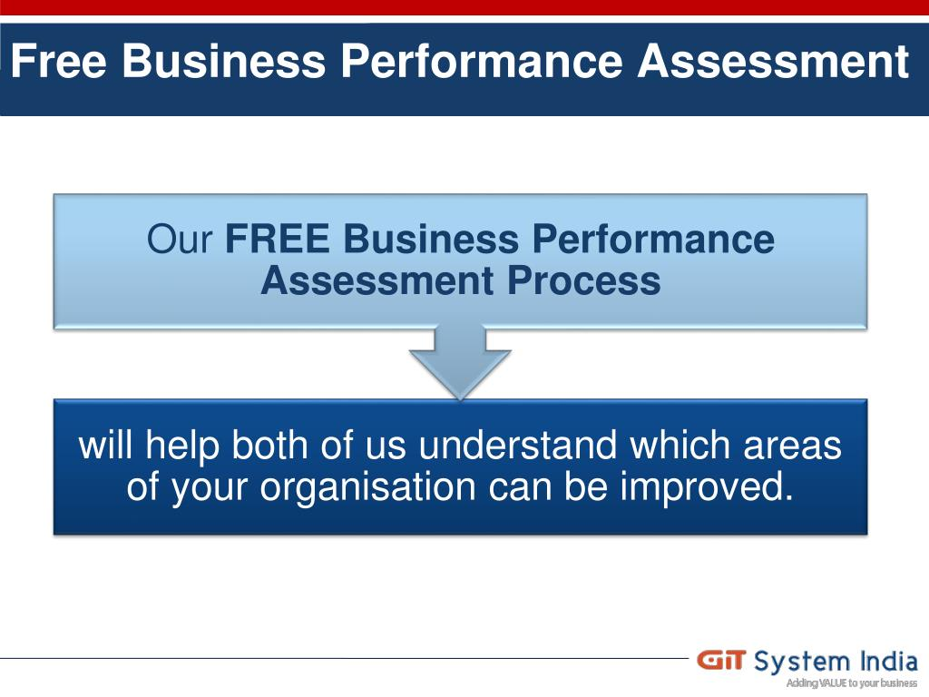 Free Business Performance Assessment