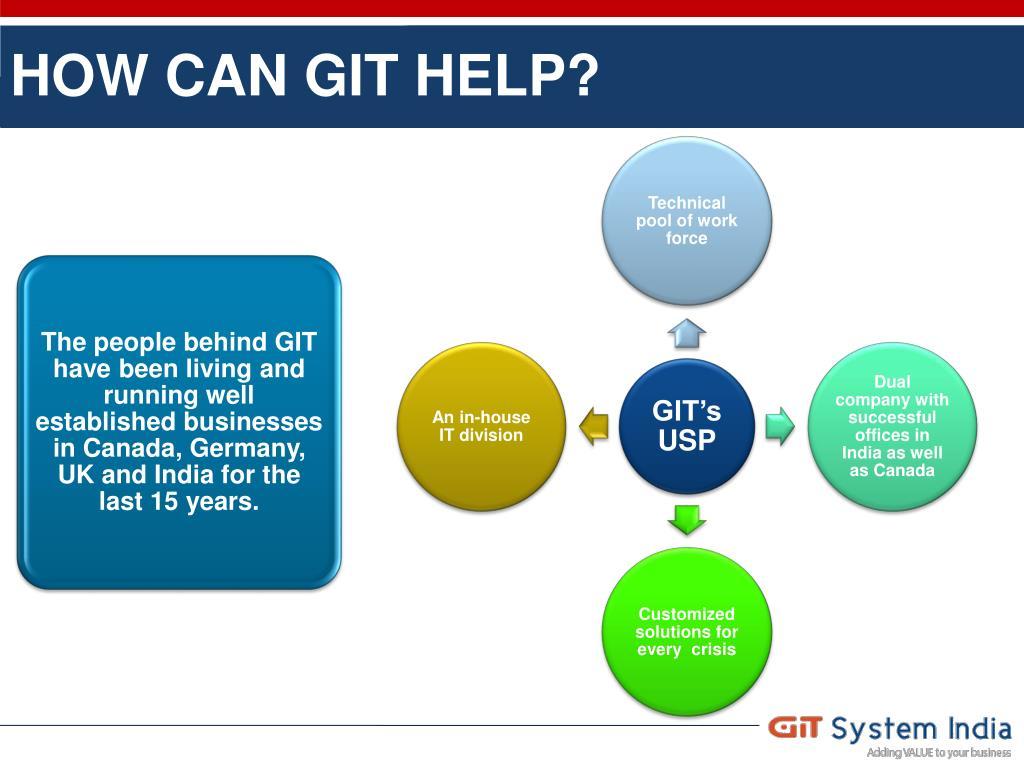 HOW CAN GIT HELP?