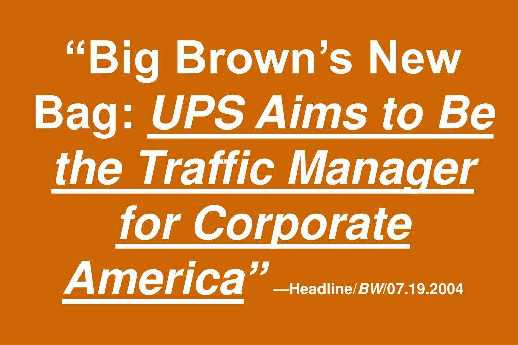 """""""Big Brown's New Bag:"""