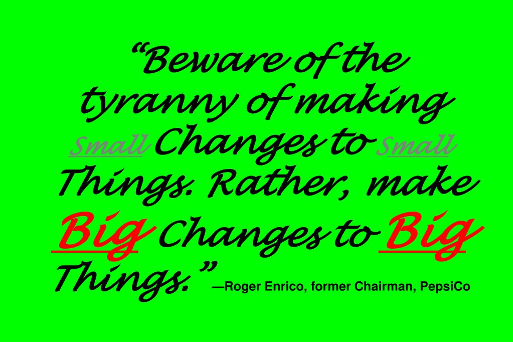 """Beware of the tyranny of making"
