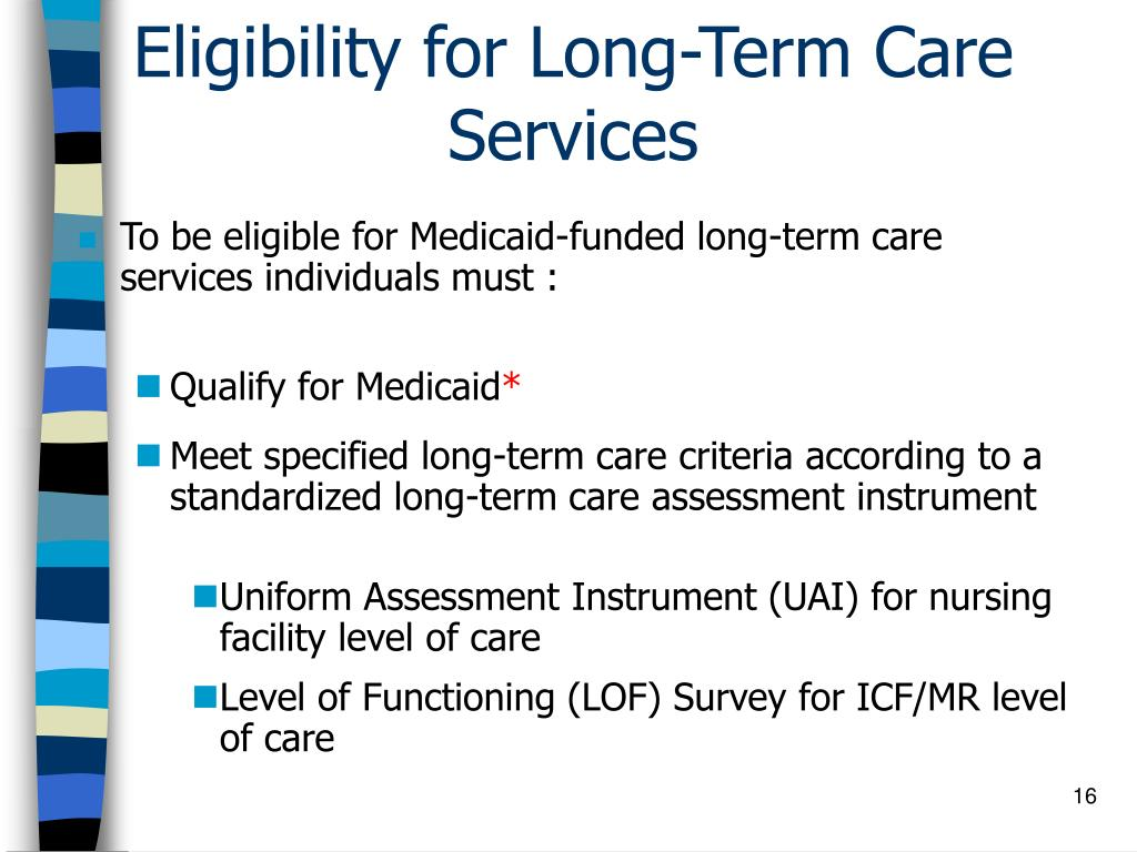 Eligibility for Long-Term Care Services