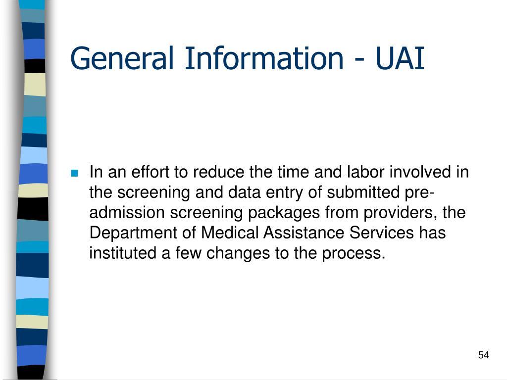 General Information - UAI