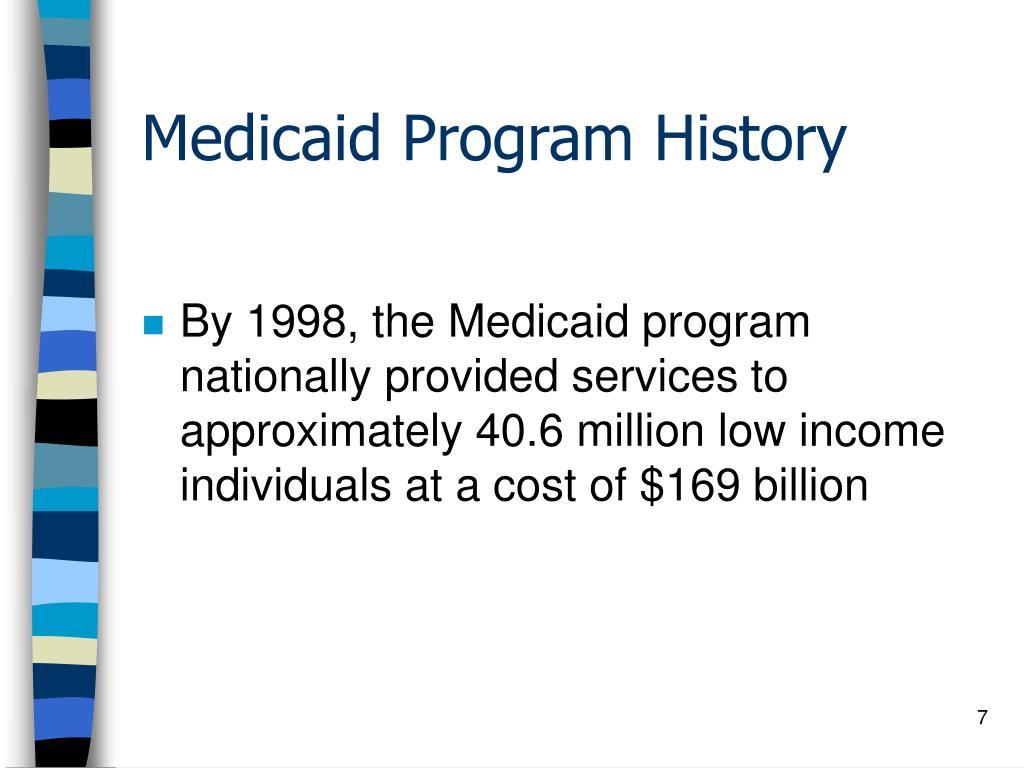 Medicaid Program History