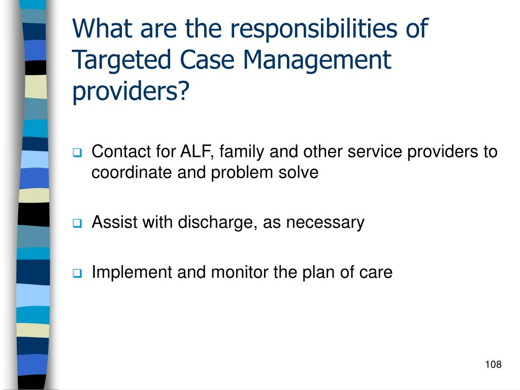 What are the responsibilities of Targeted Case Management providers?