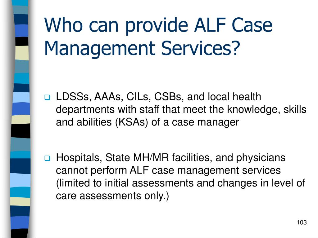 Who can provide ALF Case Management Services?