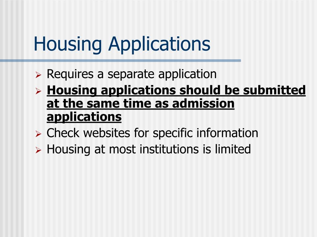 Housing Applications