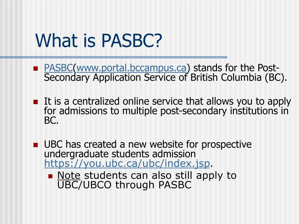 What is PASBC?