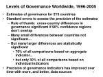 levels of governance worldwide 1996 2005