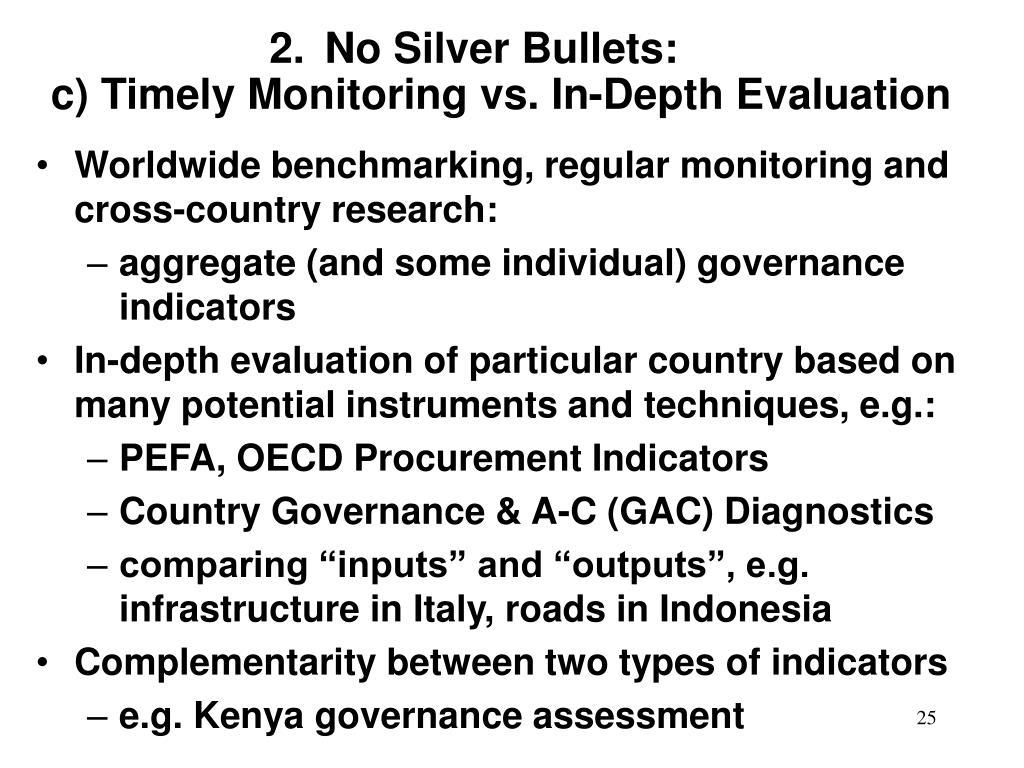 No Silver Bullets:
