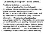 on defining corruption some pitfalls