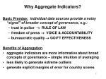 why aggregate indicators