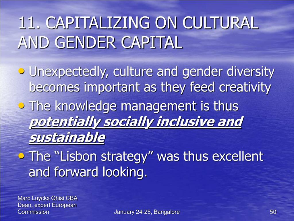 11. CAPITALIZING ON CULTURAL AND GENDER CAPITAL
