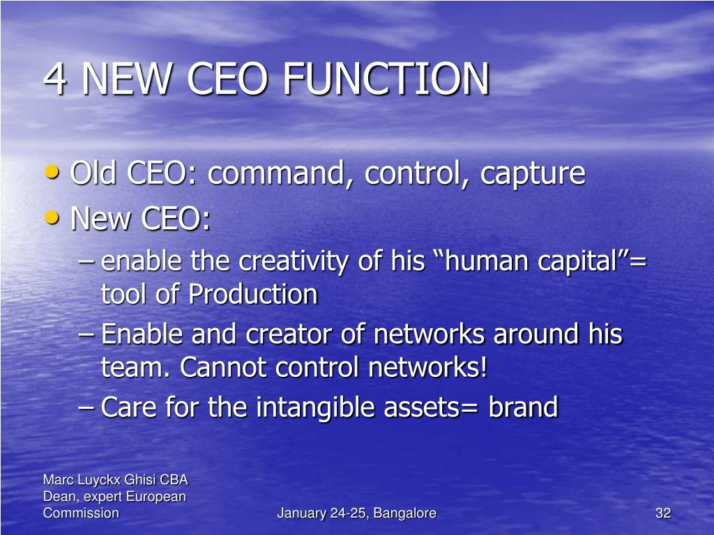 4 NEW CEO FUNCTION
