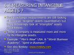 6 4 m easuring intangible assets