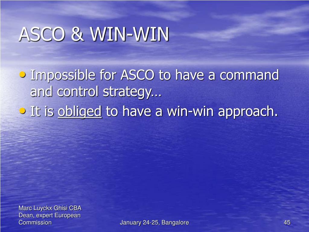 ASCO & WIN-WIN