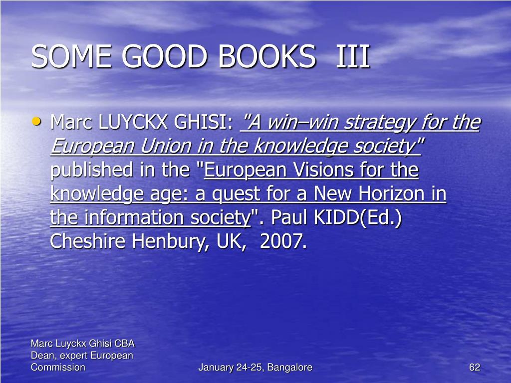 SOME GOOD BOOKS  III