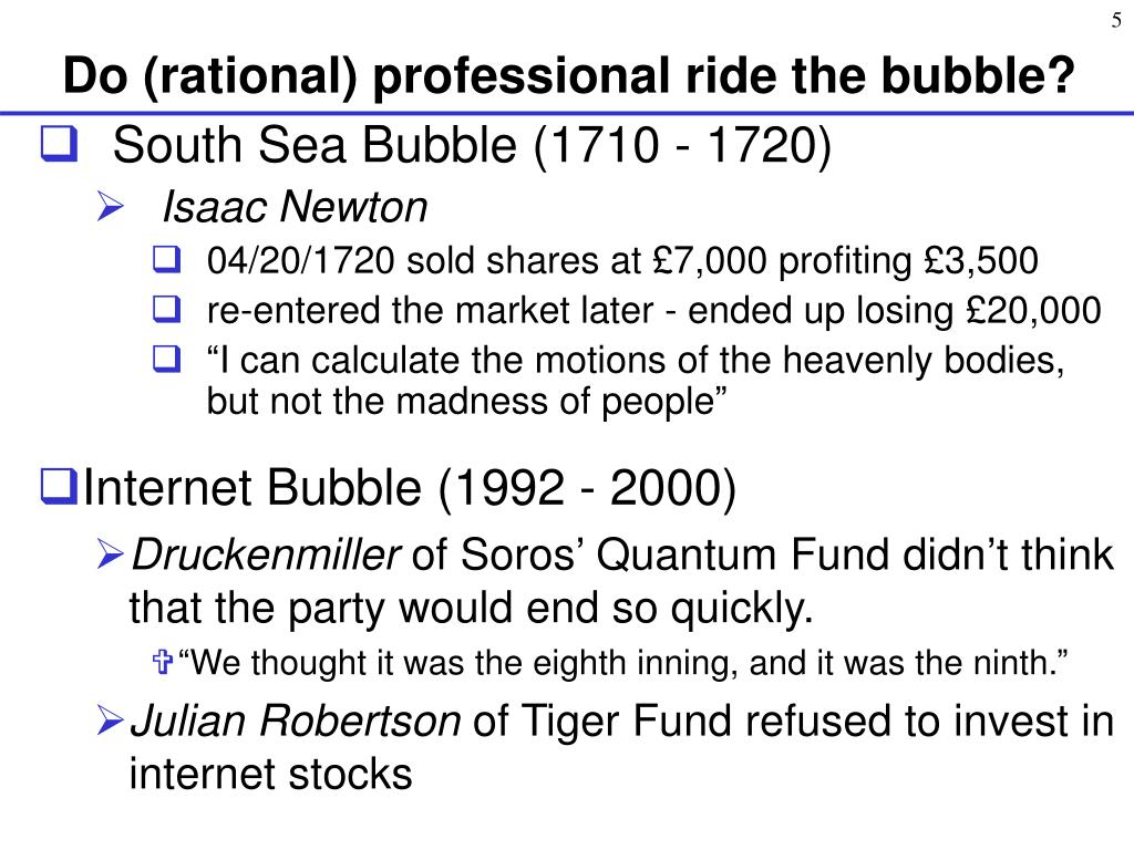 Do (rational) professional ride the bubble?