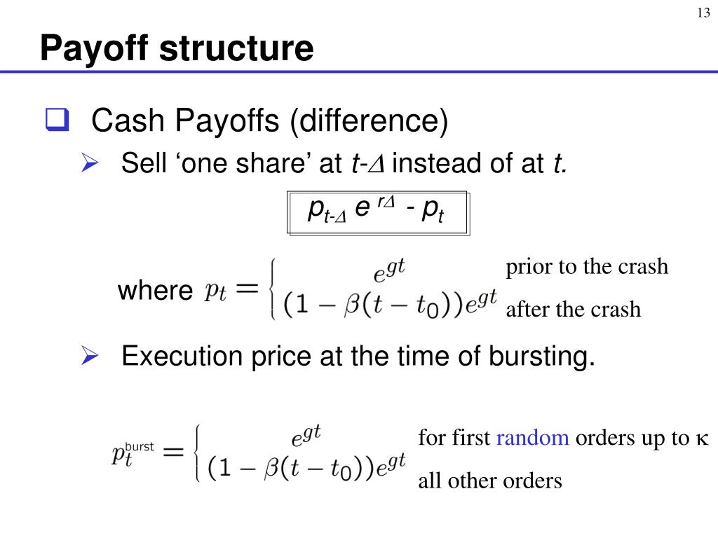 Payoff structure